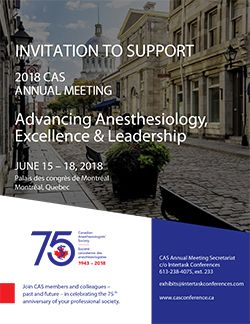 CAS 2018 Invitation to Support